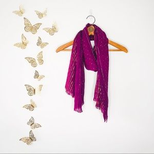 🦋🌙 Deep Purple Scarf with Gold Shimmer Flects